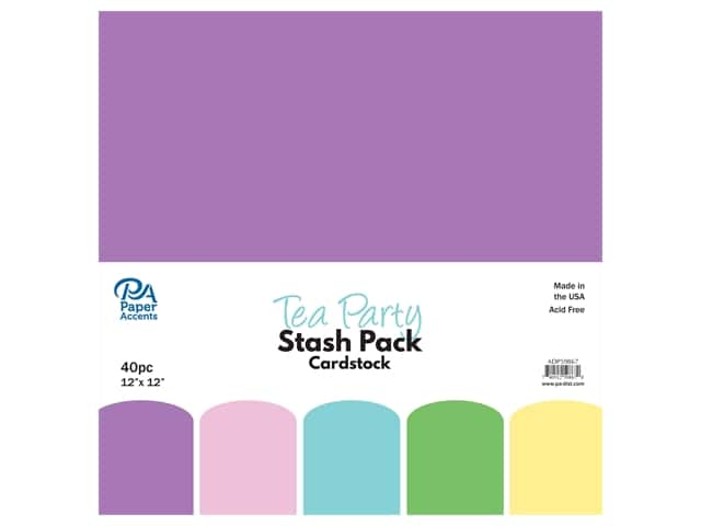 Paper Accents Cardstock Stash Pack 12 x 12 in. Tea Party 40 pc.