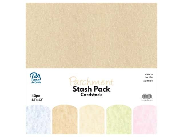 Paper Accents Cardstock Stash Pack 12 x 12 in. Parchment 40 pc.