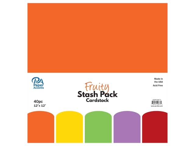 Paper Accents Cardstock Stash Pack 12 x 12 in. Fruity 40 pc.