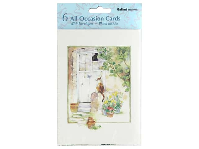 Gallant Greetings All Occasion Blank Inside 6 ct