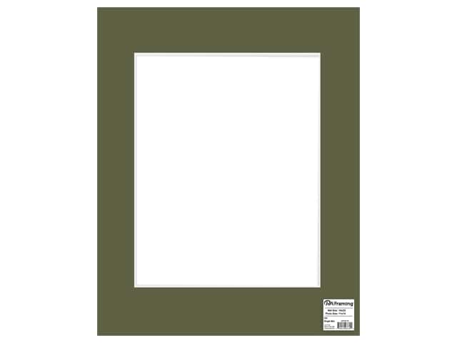 PA Framing Mat 16 in. x 20 in. /11 in. x 14 in. White Core Dill