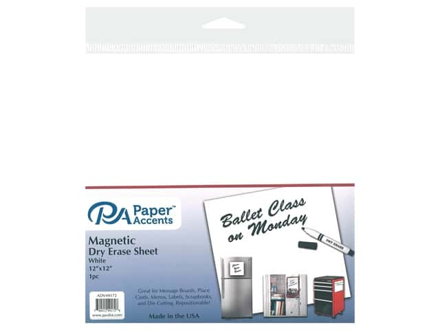 PA Adhesive Vinyl 12 x 12 in. Magnetic Dry Erase White 1 pc.