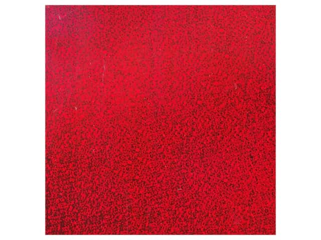 PA Adhesive Vinyl 12 x 12 in. Removable Sparkle Red 12 pc.