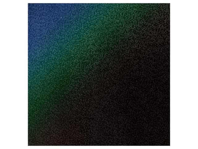 PA Adhesive Vinyl 12 x 12 in. Removable Sparkle Black 12 pc.