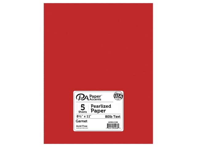 Paper Accents Pearlized Paper 8 1/2 x 11 in. #868 Garnet 5 pc.