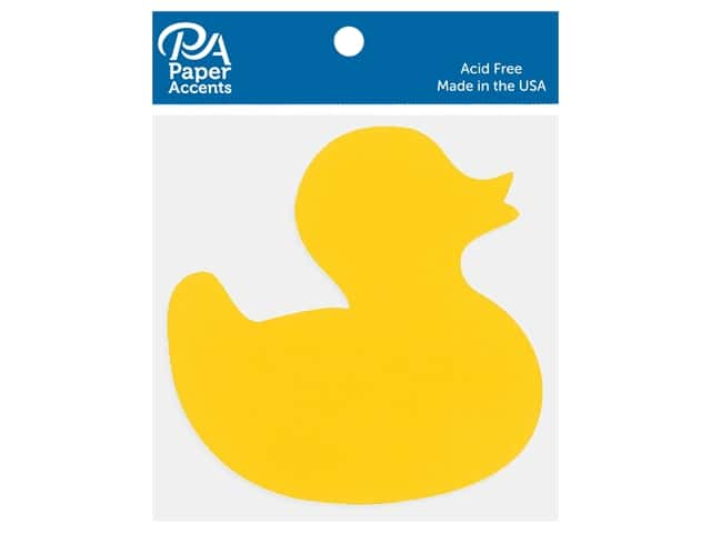 Paper Accents Cardstock Shape Duck Yellow 15 pc
