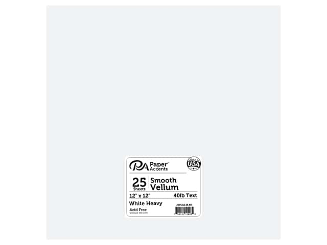 Paper Accents Vellum 12 x 12 in. #903 Heavy Weight White 25 pc.