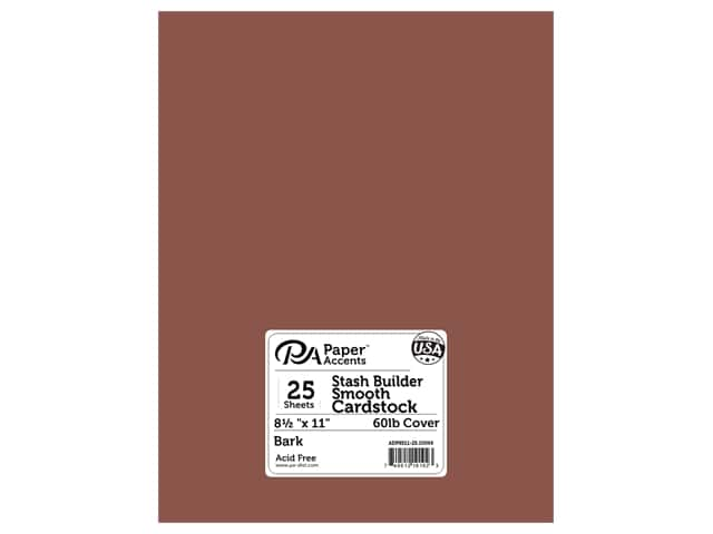 Paper Accents Cardstock 8 1/2 x 11 in. #10069 Stash Builder Bark 25 pc.