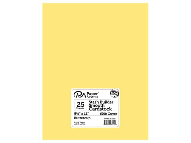 Paper Accents Cardstock 8 1/2 x 11 in. #10101 Stash Builder Buttercup 25 pc.