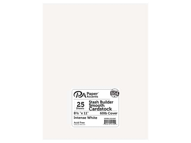 Paper Accents Cardstock 8 1/2 x 11 in. #10167 Stash Builder Intense White 25 pc.
