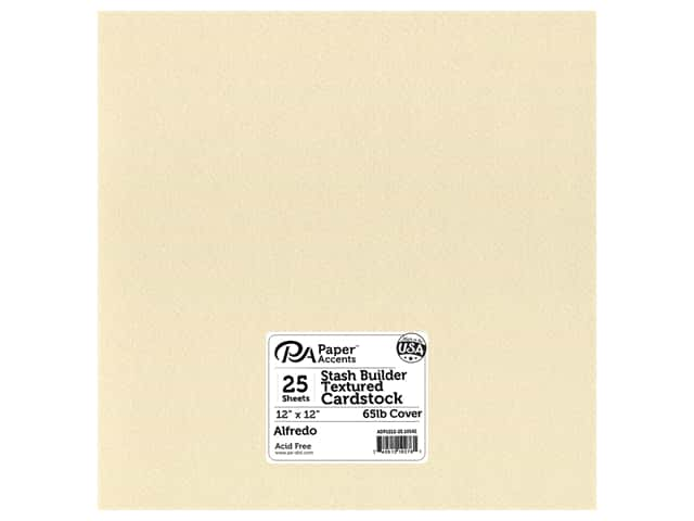 Paper Accents Cardstock 12 x 12 in. #10142 Stash Builder Textured Alfredo 25 pc.