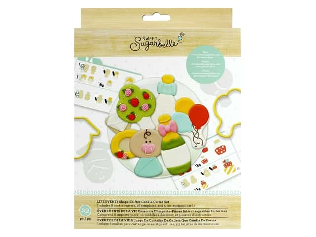 American Crafts Collection Sweet Sugarbelle Cookie Cutter Set Life Events Shape Shifter