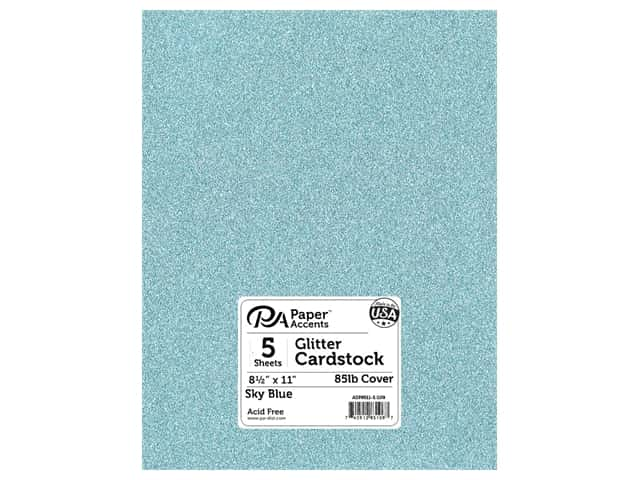 Paper Accents Glitter Cardstock 8 1/2 x 11 in. #G09 Sky Blue 5 pc.