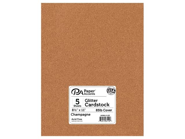 Paper Accents Glitter Cardstock 8 1/2 x 11 in. #G33 Champagne 5 pc.
