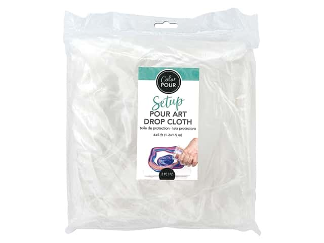 American Crafts Color Pour Pour Art - Drop Cloth 2 pc.