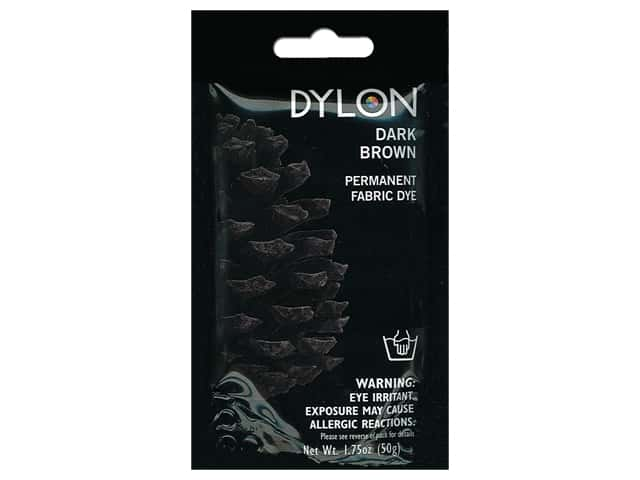 Dylon Permanent Fabric Dye 1.75 oz. Dark Brown