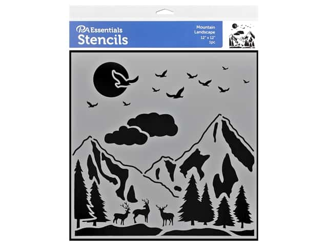 PA Essentials Stencil 12 x 12 in. Mountain Landscape