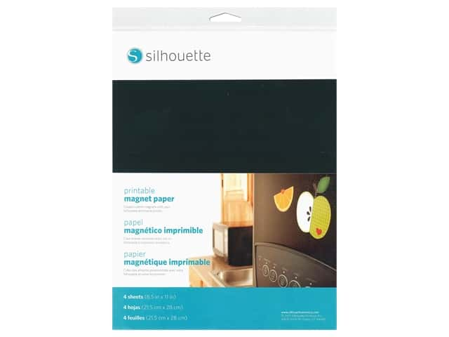Silhouette Printable Magnet Paper 8 1/2 x 11 in.