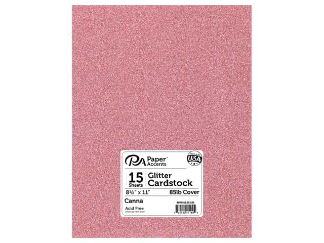Paper Accents Glitter Cardstock 8 1/2 x 11 in. #G22 Canna 15 pc.