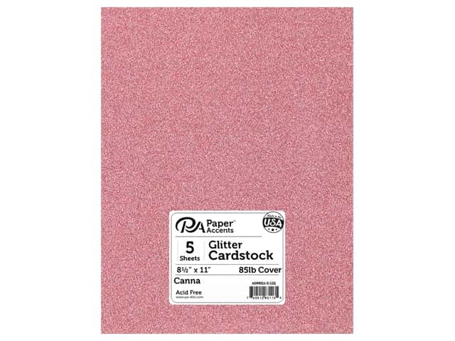 Paper Accents Glitter Cardstock 8 1/2 x 11 in. #G22 Canna 5 pc.