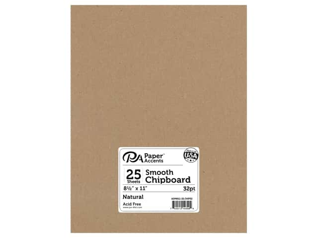 Paper Accents Chipboard 8 1/2 x 11 in. 32 pt. XL Heavy Natural 25 pc.