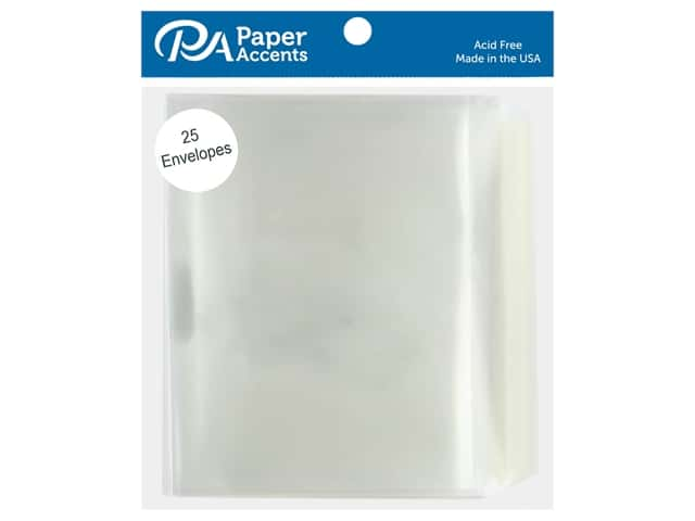 Paper Accents 4 1/4 x 5 1/2 in. Envelopes 10 pc. #9001 Clear