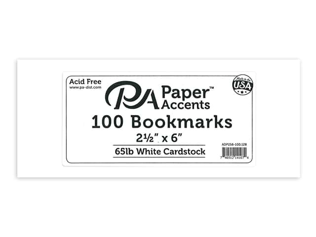 Paper Accents Blank Bookmarks 2 1/2 x 6 in. 100 pc. White