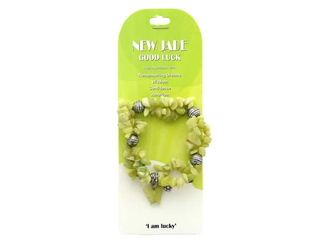 John Bead Semi Precious Stretch Bracelet New Jade 93