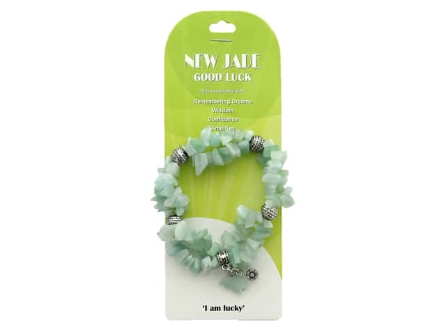John Bead Semi Precious Stretch Bracelet Amazonite New Jade 37