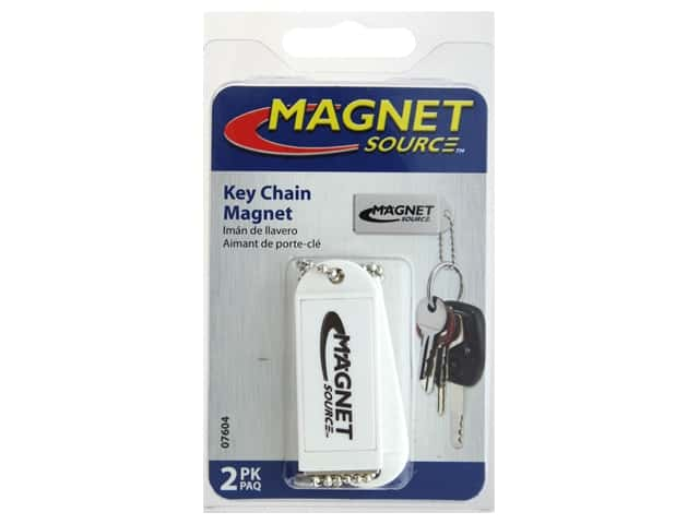 The Magnet Source Magnet Key Chain White 2 pc