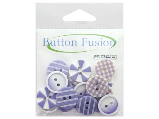 Buttons Galore Button Fusion 20 pc. Plum Crazy