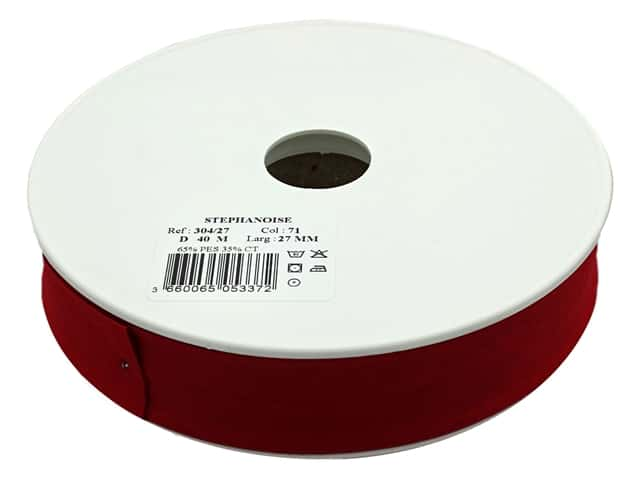 Stephanoise Poly/Cotton Bias Tape 27 mm Burgundy