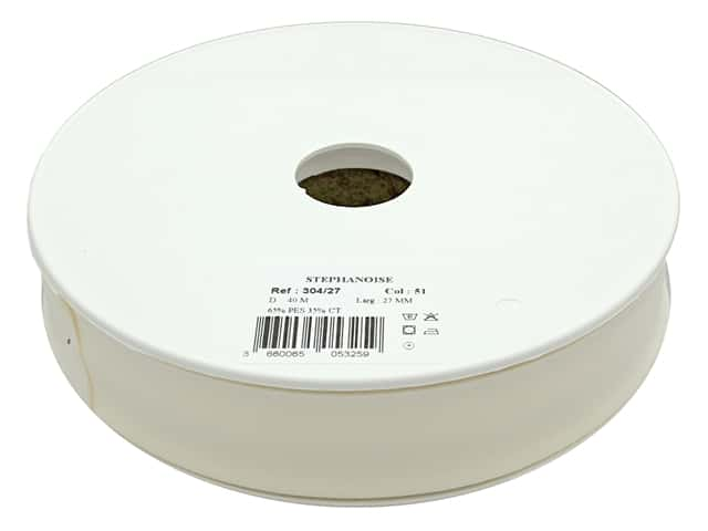 Stephanoise Poly/Cotton Bias Tape 27 mm Ivory/Cream