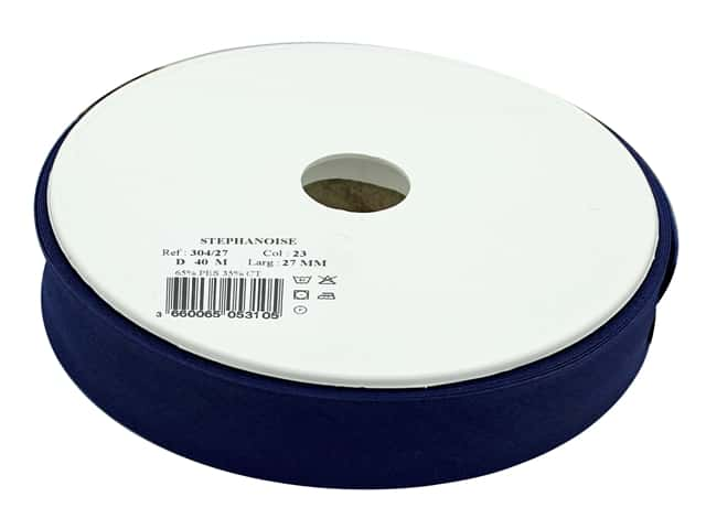 Stephanoise Poly/Cotton Bias Tape 27 mm Navy