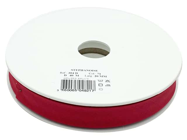 Stephanoise Poly/Cotton Bias Tape 20 mm Burgundy
