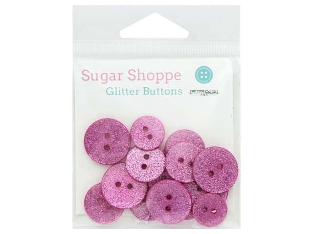 Buttons Galore Sugar Shoppe Glitter Buttons 15 pc. Sweet 16