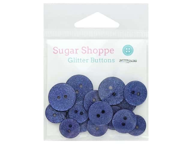 Buttons Galore Sugar Shoppe Glitter Buttons 15 pc. French Lavender