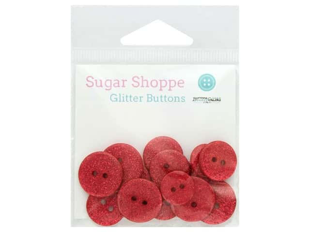 Buttons Galore Sugar Shoppe Glitter Buttons 15 pc. Ruby Slippers
