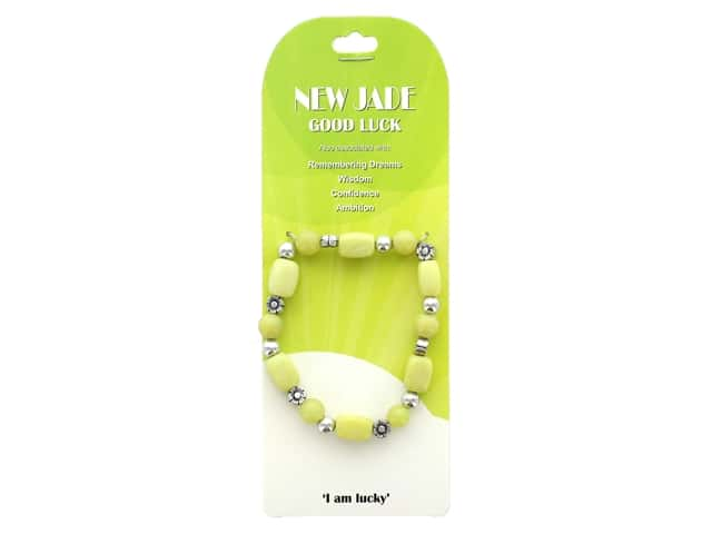 John Bead Semi Precious Stretch Bracelet New Jade 96