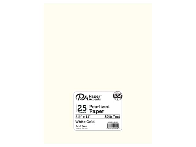 Paper Accents Pearlized Paper 8 1/2 x 11 in. #861 White Gold 25 pc.
