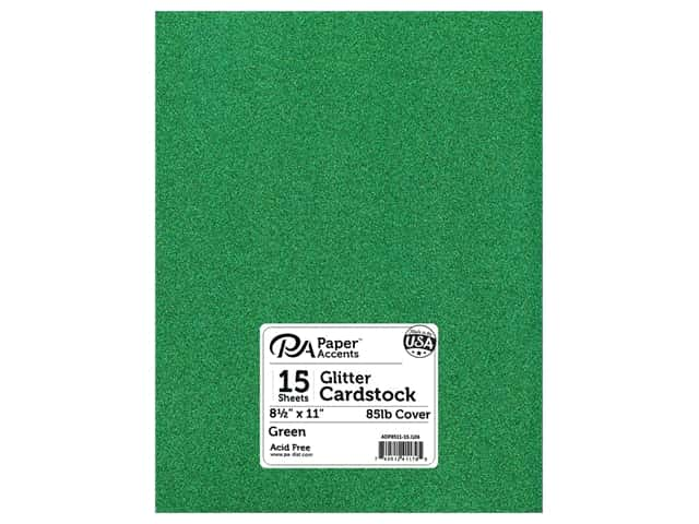 Paper Accents Glitter Cardstock 8 1/2 x 11 in. #G06 Green 15 pc.