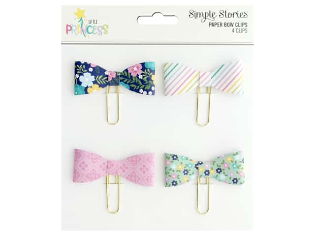 Simple Stories Collection Little Princess Paper Clips Bows
