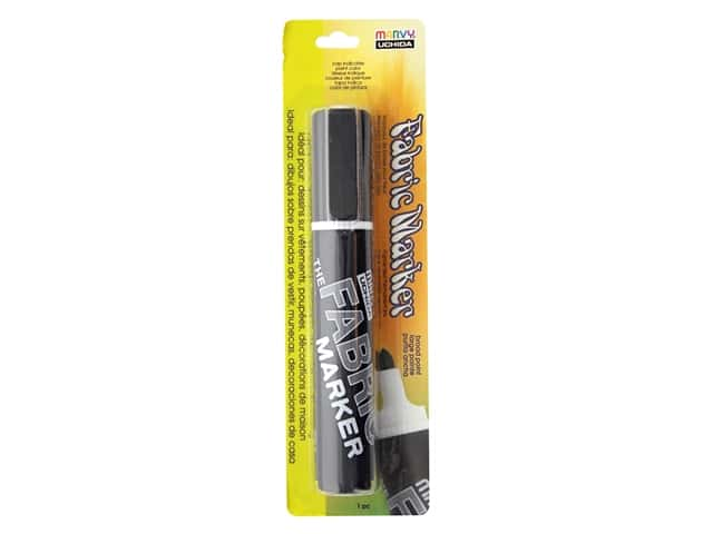 Marvy Uchida Fabric Marker Broad Tip Black