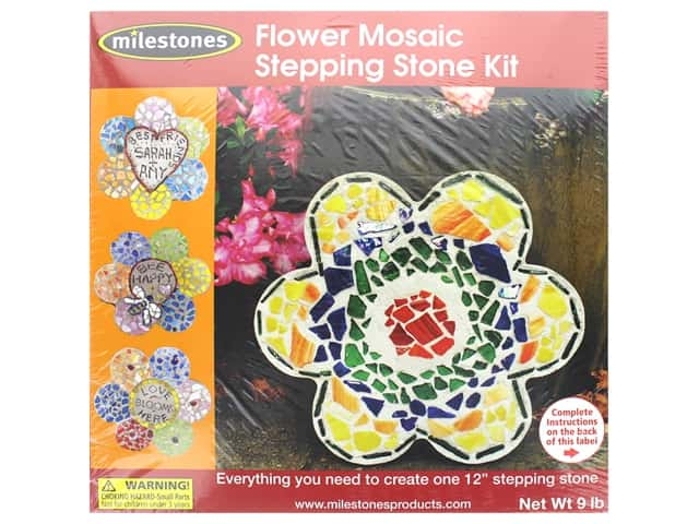 Milestones Stepping Stone Kit 12 in. Mosaic Flower