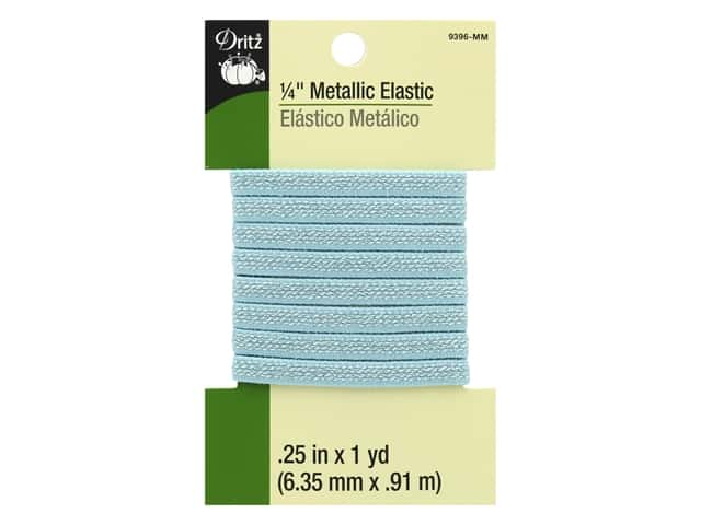 Dritz Metallic Elastic 1/4 in. x 1 yd. Mint