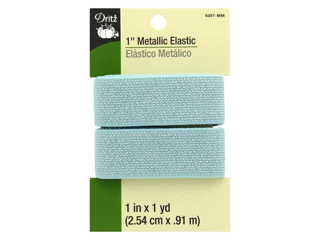 Dritz Metallic Elastic 1 in. x 1 yd. Mint