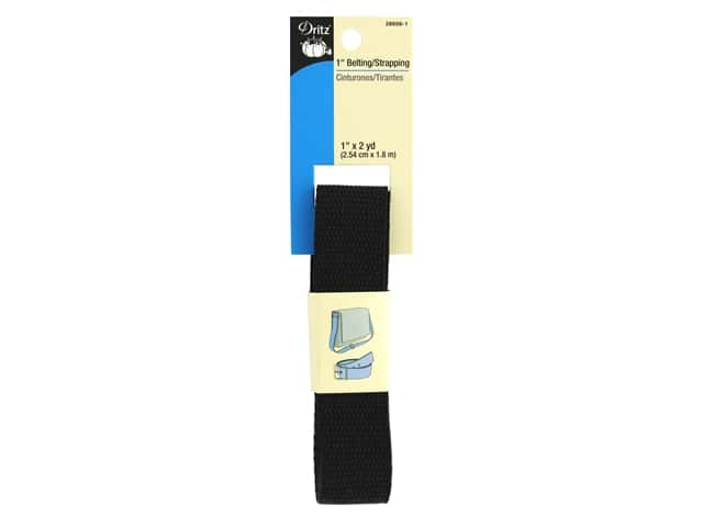 Dritz Polypropylene Belting/Strapping 1 in. x 2 yd. Black