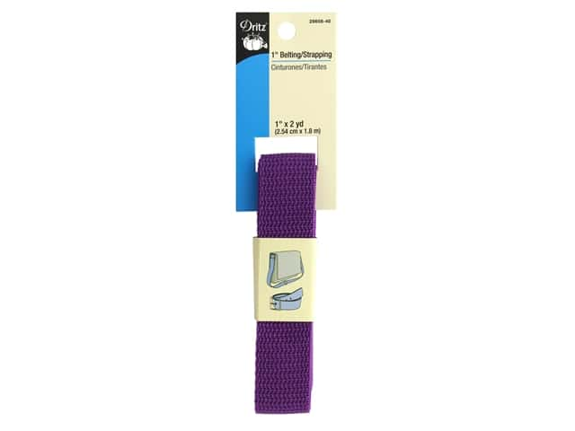 Dritz Polypropylene Belting/Strapping 1 in. x 2 yd. Purple