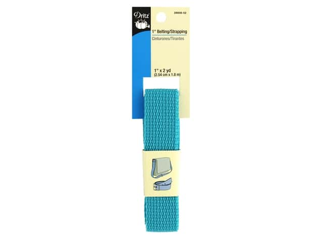 Dritz Polypropylene Belting/Strapping 1 in. x 2 yd. Teal