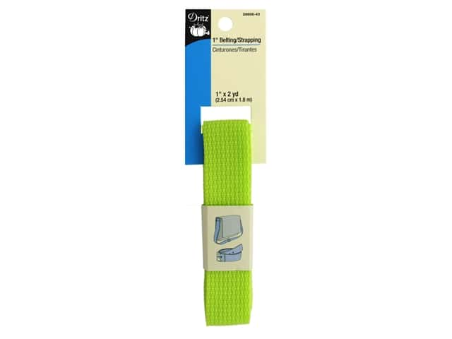 Dritz Polypropylene Belting/Strapping 1 in. x 2 yd. Lime
